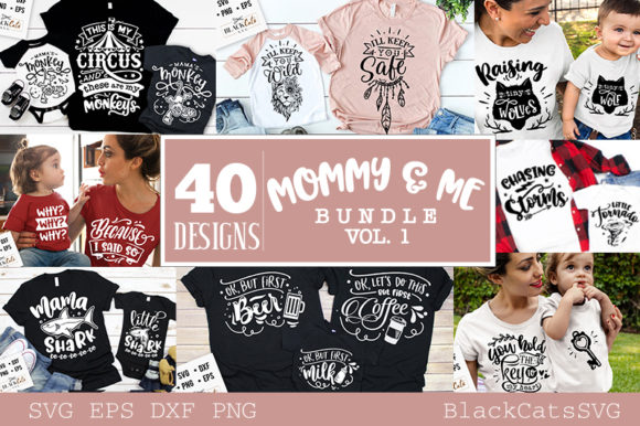 Mommy and Me Bundle 40 Designs Vol 1 Graphic Item
