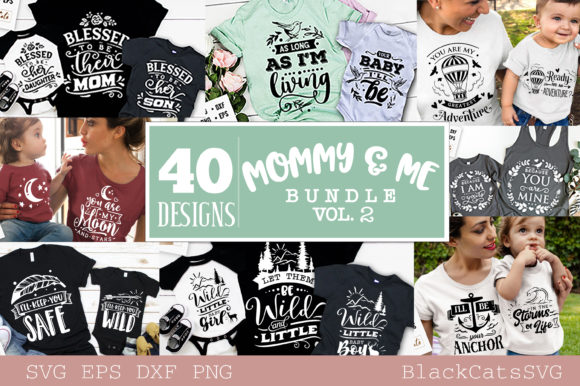 Mommy and Me Bundle 40 Designs Vol 2 Graphic Crafts By BlackCatsMedia - Image 2