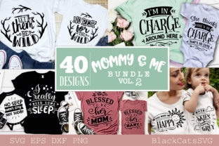 Print on Demand: Mommy and Me Bundle 40 Designs Vol 2 Graphic Crafts By BlackCatsMedia 3