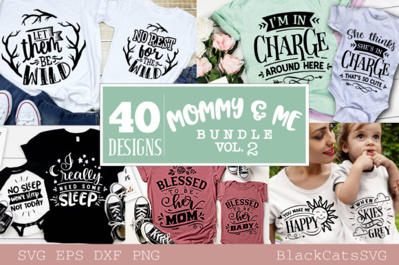 Mommy and Me Bundle 40 Designs Vol 2 Graphic Crafts By BlackCatsMedia - Image 3