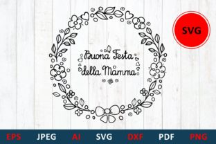 Print on Demand: Mother' Day Card in Italy Buona Festa Graphic Illustrations By millerzoa