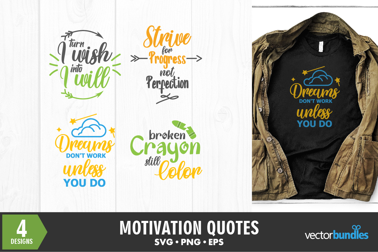 Download Free Motivational Quotes Bundle Graphic By Vectorbundles Creative for Cricut Explore, Silhouette and other cutting machines.