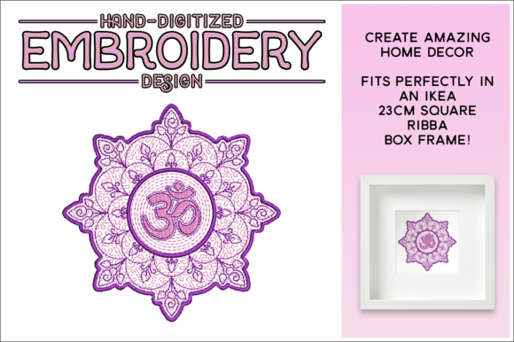 Print on Demand: Namasté Mandala Mandala Embroidery Design By gentlemancrafter