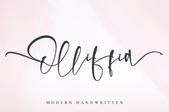 Print on Demand: Olliffia Script & Handwritten Font By thomasaradea