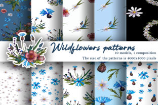 Print on Demand: Patterns Watercolor Wildflowers Graphic Illustrations By ElenaZlataArt