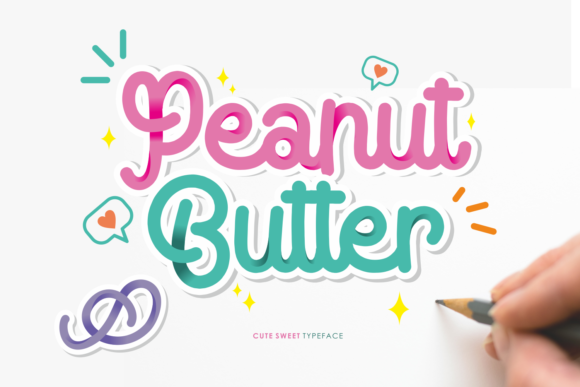 Print on Demand: Peanut Butter Script & Handwritten Font By motokiwo