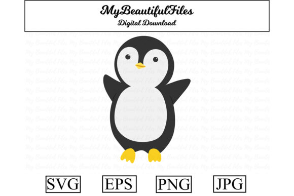 Print on Demand: Penguin Animal Cute Clipart Graphic Illustrations By MyBeautifulFiles