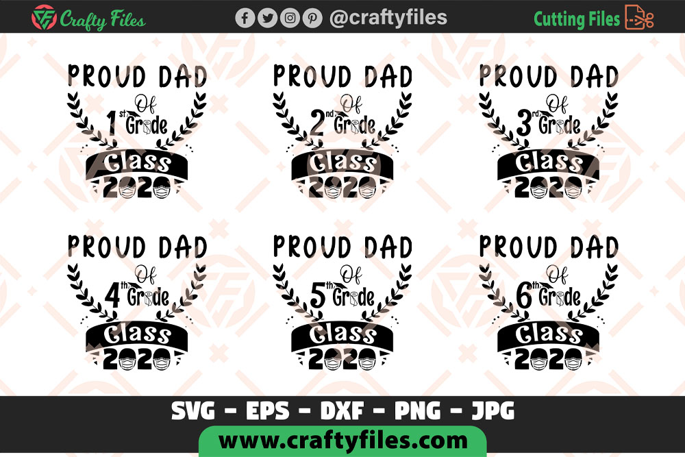 Download Free Proud Dad Of Class Of 2020 Grade Graphic By Crafty Files for Cricut Explore, Silhouette and other cutting machines.