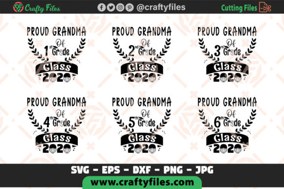 Proud Grandma Of All Grade Class 2020 Graphic By Crafty Files