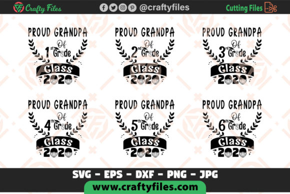 Proud Grandpa of All Grade Class 2020 Graphic Crafts By Crafty Files