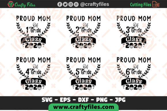 Download Free Proud Mom Of All Grade Class 2020 Bundle Graphic By Crafty Files for Cricut Explore, Silhouette and other cutting machines.