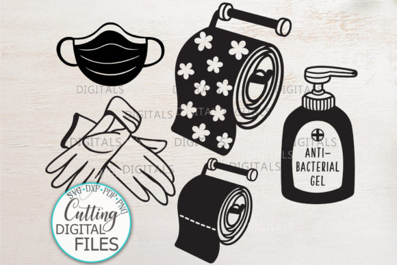 Download Free Quarantine Elements Graphic By Cornelia Creative Fabrica for Cricut Explore, Silhouette and other cutting machines.