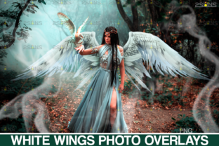 Realistic White Angel Wings Photoshop Graphic Actions & Presets By 2SUNS