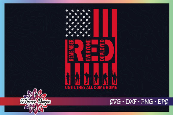 Red Until They All Come Home, USA Graphic Crafts By ssflower