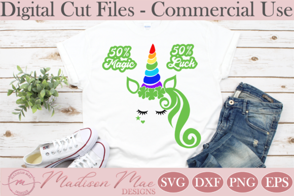 Download Free Saint Patrick S Day Unicorn Graphic By Madison Mae Designs for Cricut Explore, Silhouette and other cutting machines.