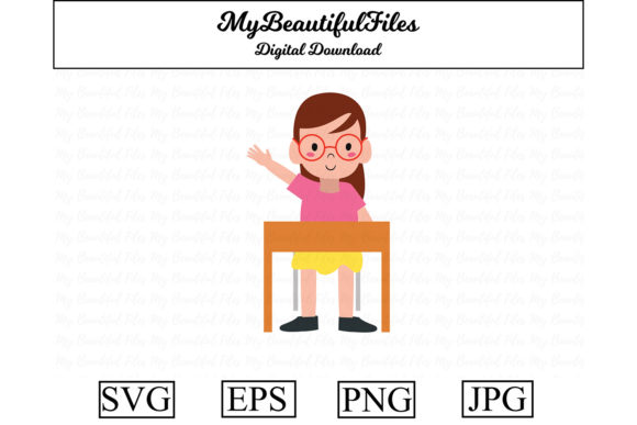 Download Free School Girl Kawaii Clipart Graphic By Mybeautifulfiles SVG Cut Files