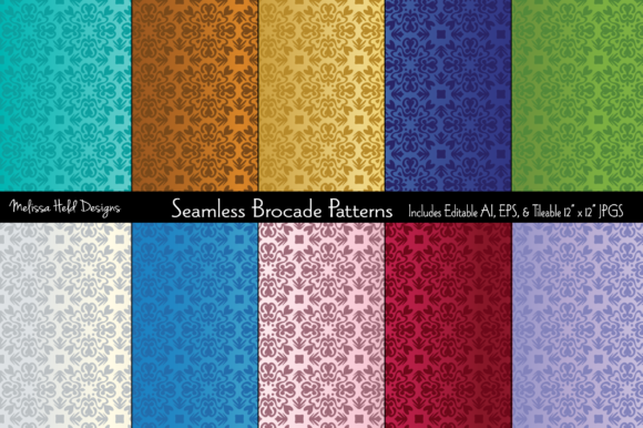 Seamless Copper Op Art Patterns Graphic By Melissa Held Designs