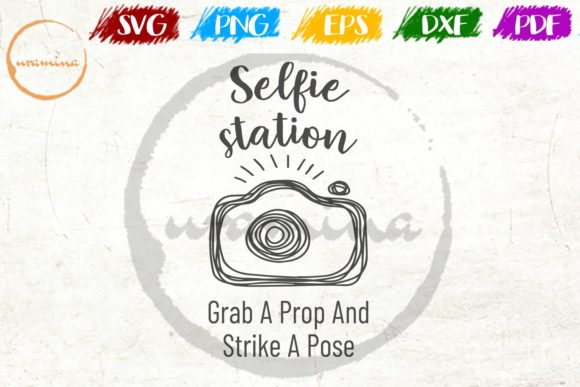 Print on Demand: Selfie Station Grab a Prop and Strike Graphic Crafts By Uramina