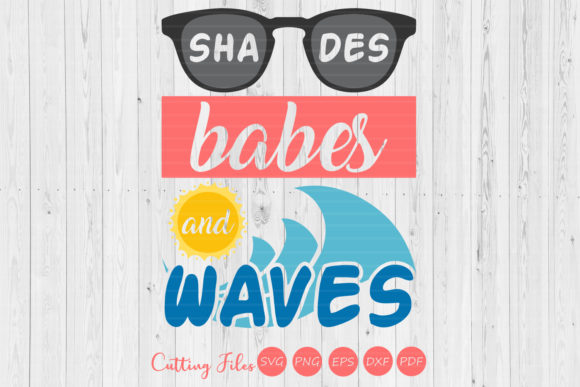 Download Free Shades Babes And Waves Graphic By Hd Art Workshop Creative Fabrica for Cricut Explore, Silhouette and other cutting machines.