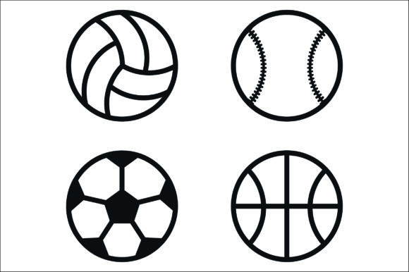 Download Free Sport Balls Cut File Graphic By Bn3300877 Creative Fabrica for Cricut Explore, Silhouette and other cutting machines.
