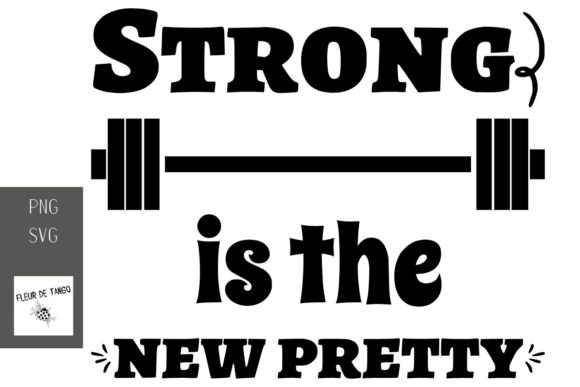 Print on Demand: Strong is the New Pretty Graphic Print Templates By Fleur de Tango