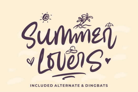 Print on Demand: Summer Lovers Script & Handwritten Font By Azetype