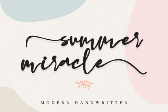 Summer Miracle Font Free Download