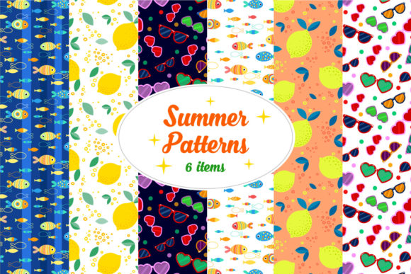 Download Free Summer Pattern 6 Digital Papers Graphic By Tatiana Cociorva Creative Fabrica for Cricut Explore, Silhouette and other cutting machines.