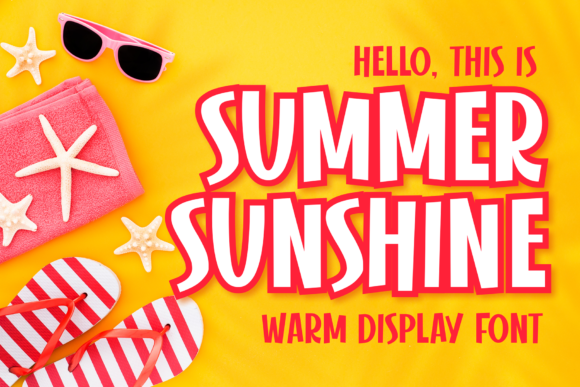 Print on Demand: Summer Sunshine Display Font By figuree studio