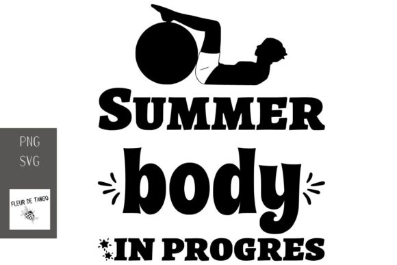 Print on Demand: Summer Body in Progres Graphic Print Templates By Fleur de Tango