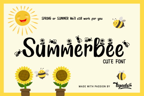 Print on Demand: Summerbee Script & Handwritten Font By Tigade std