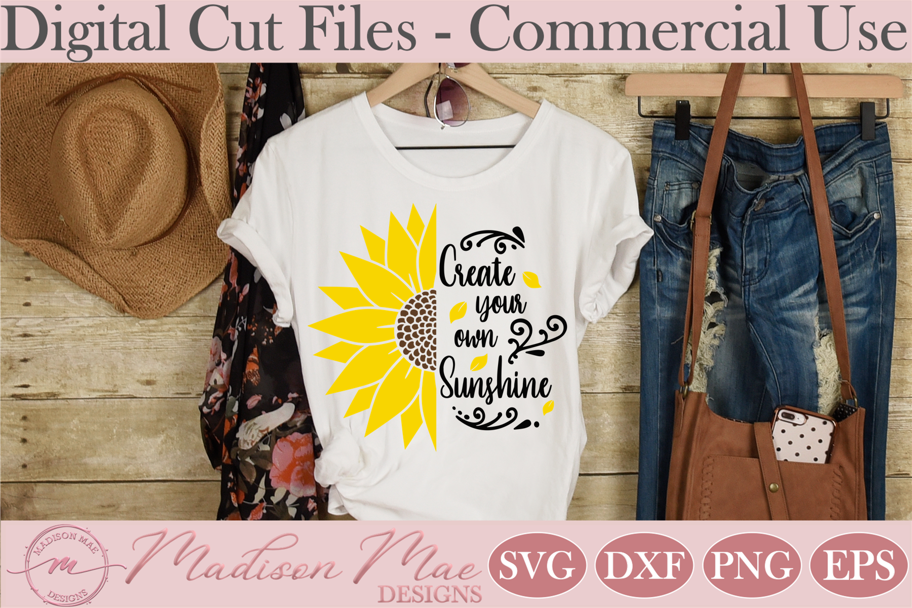 Download Free Sunflower Create Your Own Sunshine Graphic By Madison Mae SVG Cut Files