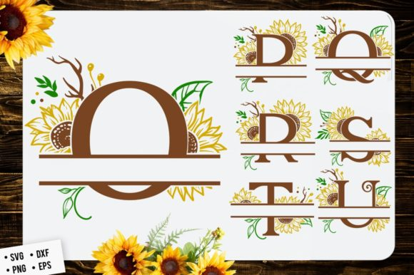 Download Free Sunflower Split Font Monogram Grafico Por Blackcatsmedia for Cricut Explore, Silhouette and other cutting machines.