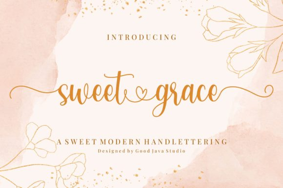 Print on Demand: Sweet Grace Script & Handwritten Font By goodjavastudio