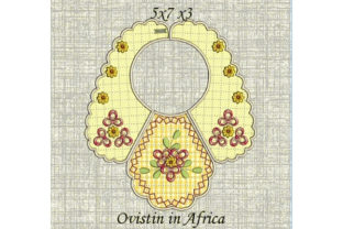 Sweet Yellow Floral Baby Bib for Small Hoops Nursery Embroidery Design By Ovistin in Africa
