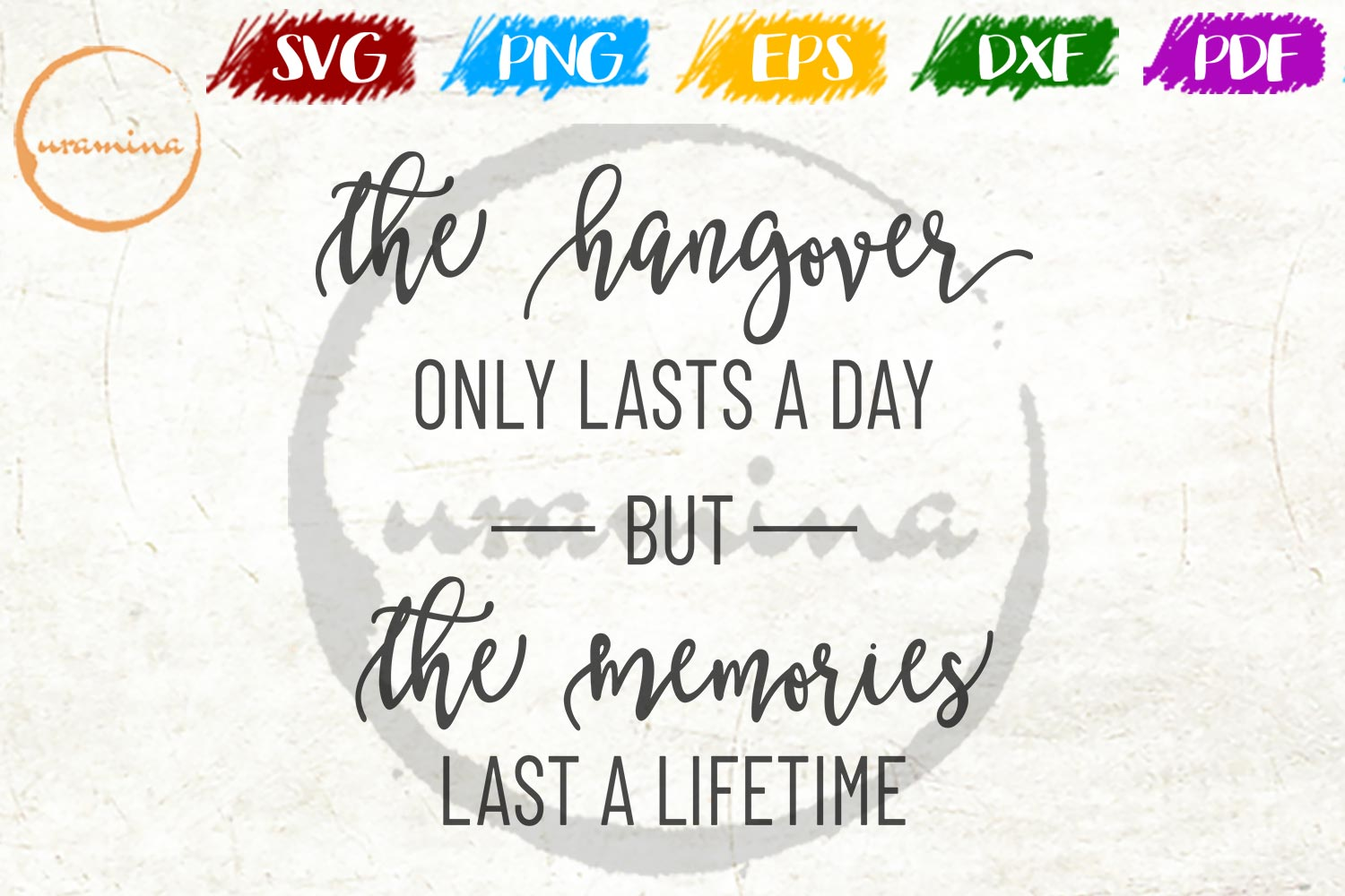 Download Free The Hangover Only Lasts A Day Graphic By Uramina Creative Fabrica SVG Cut Files