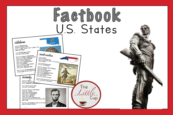 US Fact Book: 50 States Guide Graphic Teaching Materials By marie9