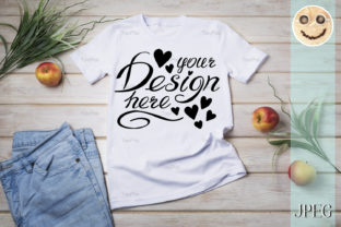 Download Free Unisex T Shirt Mockup With Grass Apples Graphic By Tasipas for Cricut Explore, Silhouette and other cutting machines.