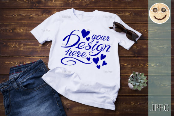 Download Free Unisex T Shirt Mockup With Jeans Graphic By Tasipas Creative for Cricut Explore, Silhouette and other cutting machines.