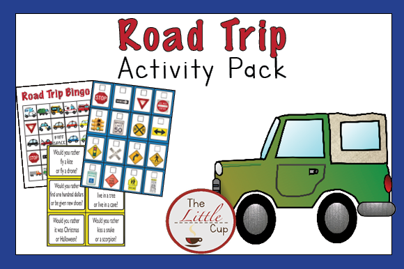 Vehicle Road Trip Activity Pack Graphic