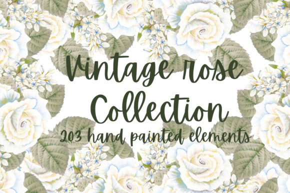Print on Demand: Vintage Rose Collection Graphic Illustrations By Andreea Eremia Design