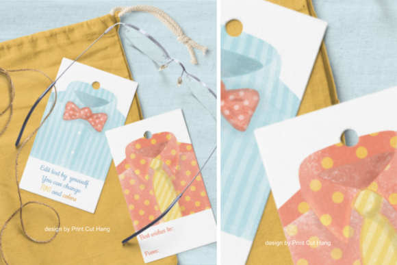 Download Free Watercolor Father S Day Tags Templates Graphic By Print Cut Hang for Cricut Explore, Silhouette and other cutting machines.