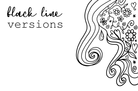 Print on Demand: Watercolor Ink Folk Art Doodle Borders Graphic Backgrounds By Prawny - Image 8