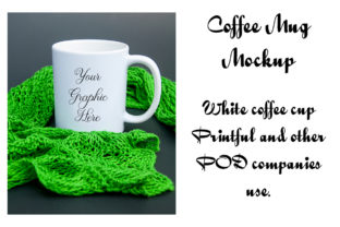 Print on Demand: White Coffee Mug Mockup Printful Cups Graphic Product Mockups By A Design in Time 1
