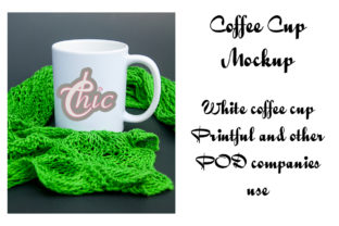 Print on Demand: White Coffee Mug Mockup Printful Cups Graphic Product Mockups By A Design in Time 2