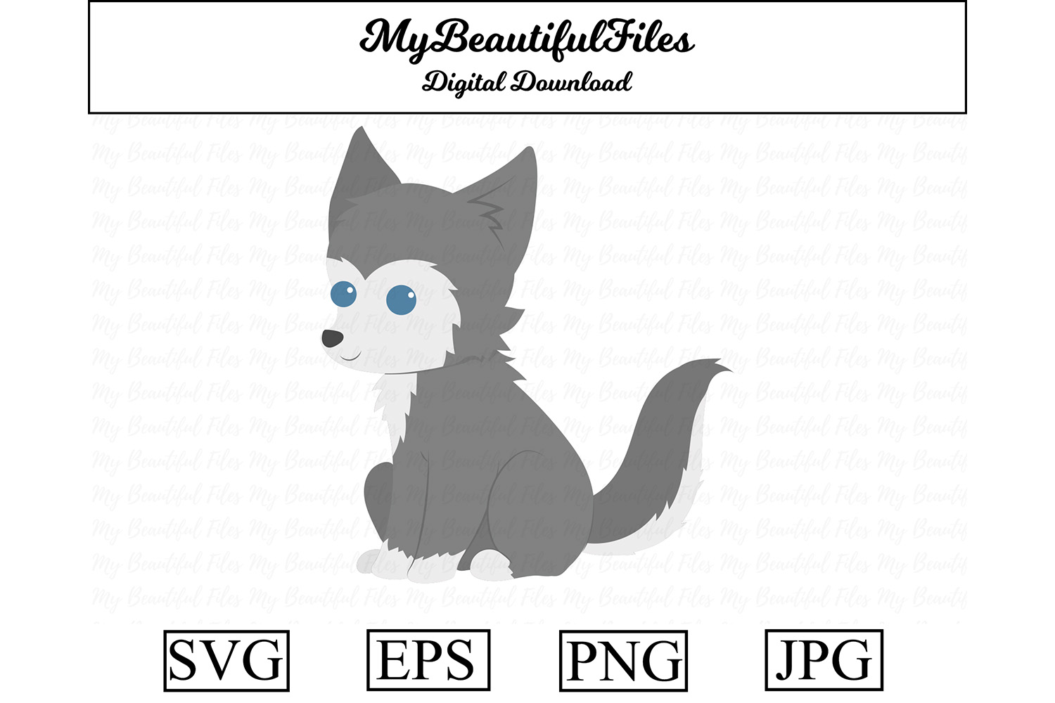 Download Free Wolf Cute Clipart Graphic By Mybeautifulfiles Creative Fabrica for Cricut Explore, Silhouette and other cutting machines.