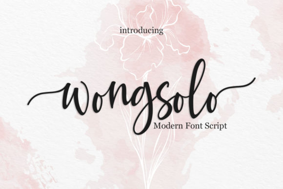 Wongsolo Font By Belove Studio Creative Fabrica
