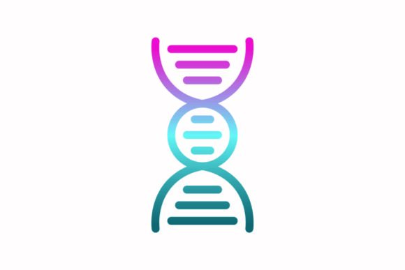 Dna Rainbow Coloring Icon Graphic Icons By astuti.julia93@gmail.com