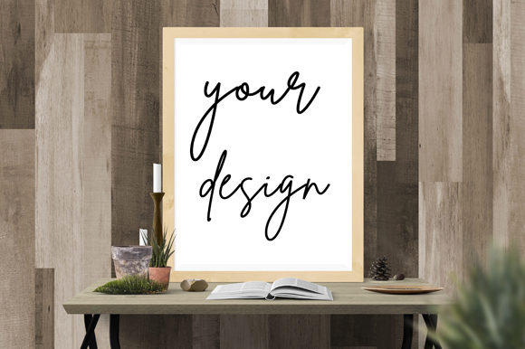Download Free Simple Aesthetic Frame Poster Mockup Graphic By Knou Creative for Cricut Explore, Silhouette and other cutting machines.