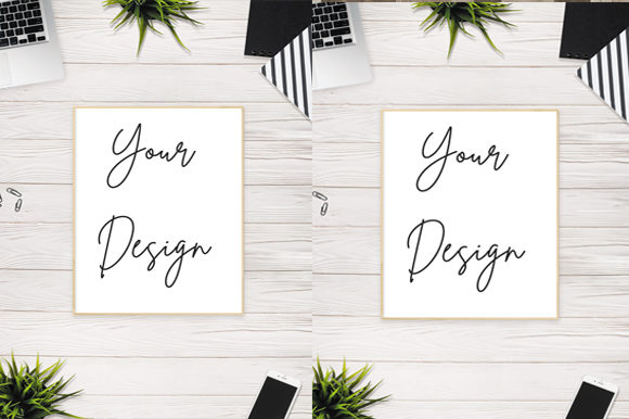 Download Free Simple Aesthetic Paper Board Mockup Graphic By Knou Creative for Cricut Explore, Silhouette and other cutting machines.